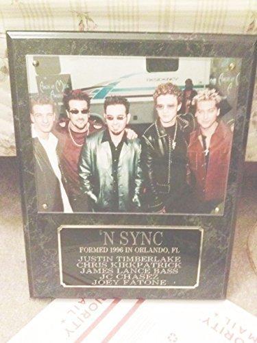 'NSYNC Band Wall Plaque Authentic 90's Music Memorabilia