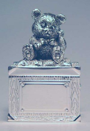 """Silver Plated Baby's 1st Tooth Box Pre-Engraved """"1st Tooth"""""""
