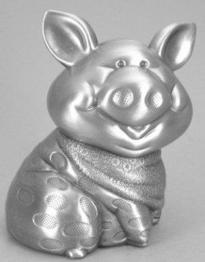 Pewter Finish Bandana Piggy Bank