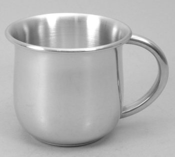 Pewter Pot-Bellied Baby Cup