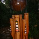 Real coconut top Bamboo WindChime Lighthouse windchime