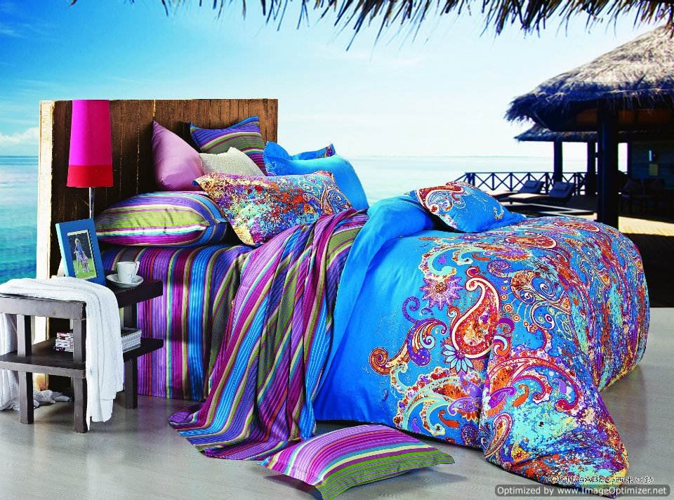 Queen Duvet Covers Bed In A Bag 5pc Gorgeous Multi Colored