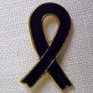 Black Ribbon Melanoma Funeral Memory POW MIA Pin New