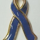 Blue Ribbon Colon Cancer Awareness Lapel Pin Tac New