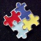 Autism Asperger Color Puzzle Piece Awareness Pin Tac L