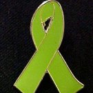 Muscular Dystrophy Lime Green Awareness Ribbon Pin New