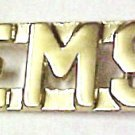 "EMS Collar Pin Set Nickel Cut Out Letters 3/8"" Emergency Medical Services 2467"