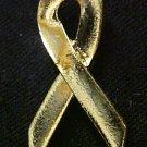 Gold Awareness Ribbon Childhood Child Cancer Pin New