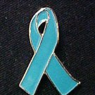 Teal Ovarian Cancer Hope Awareness Ribbon Lapel Pin Tac