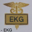 EKG Gold Inlaid Insignia Emblem Pin Caduceus 3511G New
