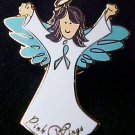 Myasthenia Gravis Awareness Ribbon Angel Brown Pin New