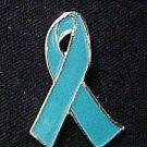 Anxiety Disorder Awareness Teal Ribbon Lapel Pin Tac