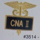 New CNA II Nurse Gold Inlaid Lapel Pin Caduceus 3514B