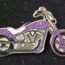 Purple Pancreatic Cancer Lupus Motorcycle Biker Pin New