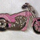 Breast Cancer Awareness Ribbon Motorcycle Biker Pin New
