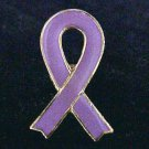 Lavender Lilac Ribbon Cancer Testicular Relay Lapel Pin
