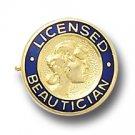 Licensed Beautician Emblem Beauty School Lapel Pin 812