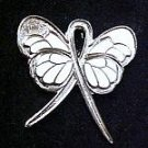 Dyslexia Awareness Silver Support Ribbon Butterfly Lapel Pin Exclusive New