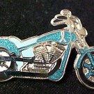 Ovarian Cancer Teal Ribbon Motorcycle Biker Pin Tac New