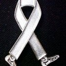 Mental Health Awareness Month is May Silver Gray Walking Legs Ribbon Pin New