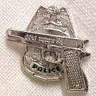 Police Shield Badge Semi Auto Tie Tac Police Officer Professional Nickel 3613N