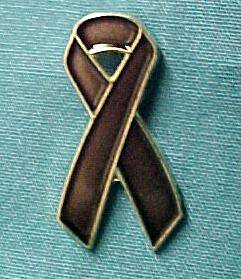 Colorectal Cancer Awareness Brown Ribbon Lapel Pin Tac