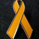 Prevent Animal Cruelty Awareness Orange Ribbon Pin Tac