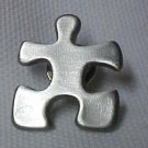 Autism Asperger Matte Pewter Puzzle Piece Support Awareness Lapel Pin Tac New