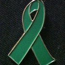 Kidney Cancer Awareness Green Ribbon Lapel Pin New