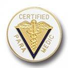 Certified Paramedic Caduceus Medical Emblem Pin 5014