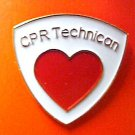CPR Technician Lapel Pin Tech Medical Emblem Red Heart EMT EMS New