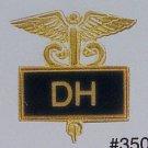 Dental Hygienist Emblem Black Inlaid Pin Caduceus 3503B