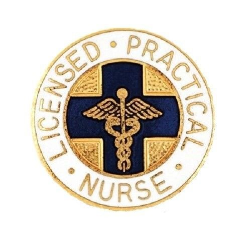 LPN Lapel Pin Licensed Practical Nurse Nursing Blue Cross Graduation Pinning New