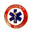 EMT Collar Pin Device Emergency Medical Technician Star of Life 59G2 Red Gold