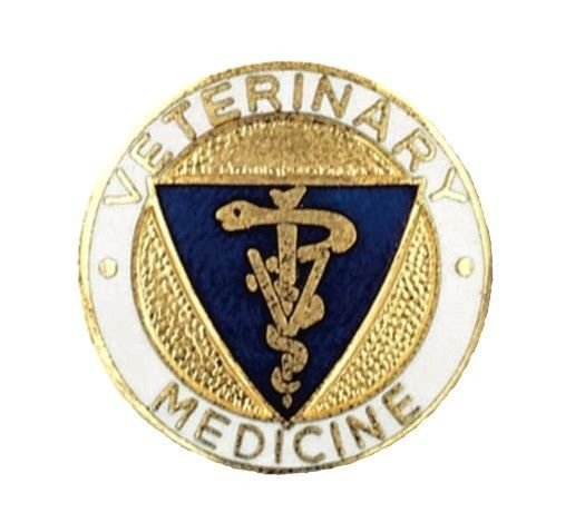 Veterinary Medicine PIN Vet Caduceus Medical Emblem Graduation Recognition Pins