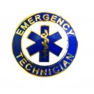 Emergency Technician Collar Pin Device Gold Blue Star of Life EMS Lapel 60G2 New