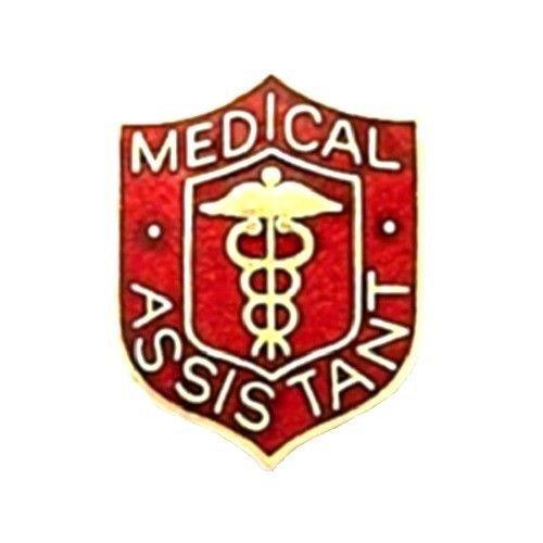 Medical Assistant Pin Medical Emblem Red Crest Graduation Recognition 818 New