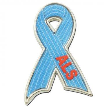 ALS Ribbon Lapel Pin Lou Gehrig's Disease Awareness Support Collar Cap Tac New