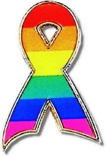 Gay Pride Lapel Pin Tac Rainbow Awareness Ribbon New