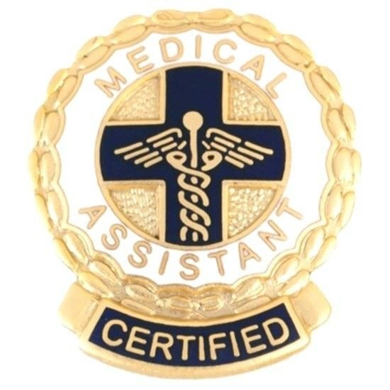 Certified Medical Assistant Pin CMA Caduceus Medical Emblem Graduation Pins New