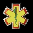 Star Of Life Lapel Pin Yellow EMT EMS Cap Badge Lanyard Tac Tacks Serpent New