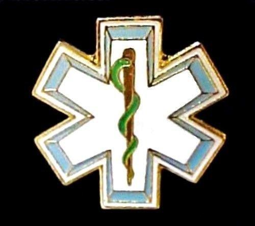 EMT EMS Lapel Pin Star Of Life Serpent Cap Pins Tac Emergency Medical Technician