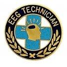EEG Technician Pin Graduation Recognition Lapel Collar Pins Gold Plate 986 New