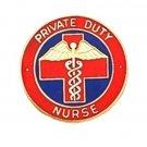Private Duty Nurse  Lapel Pin Professional Nursing Red Cross Caduceus 5025 New