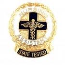 Nursing Assistant State Tested Lapel Pin Graduation Ceremony Caduceus Wreath New