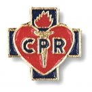 CPR Lapel Pin Tac Red Heart Blue Cross Medical EMT EMS Student Graduation New