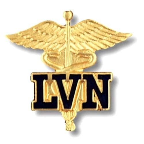 LVN Lapel Pin Licensed Vocational Nurse Caduceus Nursing Graduation Pins New