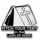 Faith Hope Cross Spiritual Pin Religious Awareness White Tent Land of Hope New