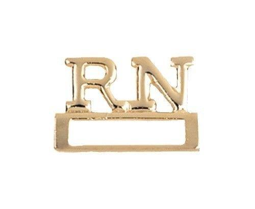RN ID Badge Holder Nurse Registered Nurse Pin Tac Prestige Gold Plated 9310 New