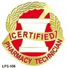 Certified Pharmacy Technician Mortar Pestle Professional Medical Emblem 106 New